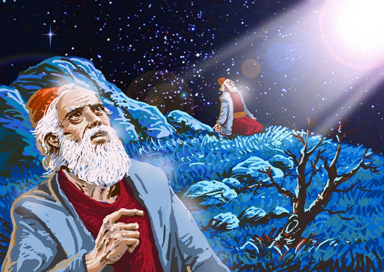 Artist depiction of the Covenant with Abraham.  There was a lot of paperwork after that isn't depicted.